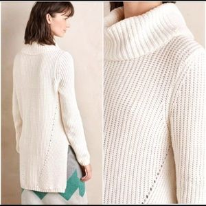 Anthropologie Moth Cowl Neck Hi Low Knit Sweater